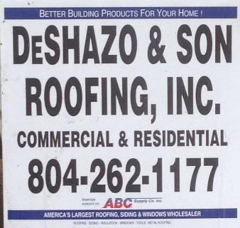 Deshazo Amp Son Roofing Inc Roofing Contractors In Glen