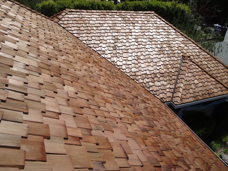 Cedar Shingles Roof by Los Gatos Roofing