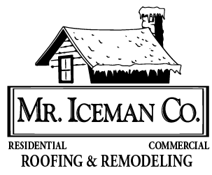Mr Iceman Co. Roofing Logo