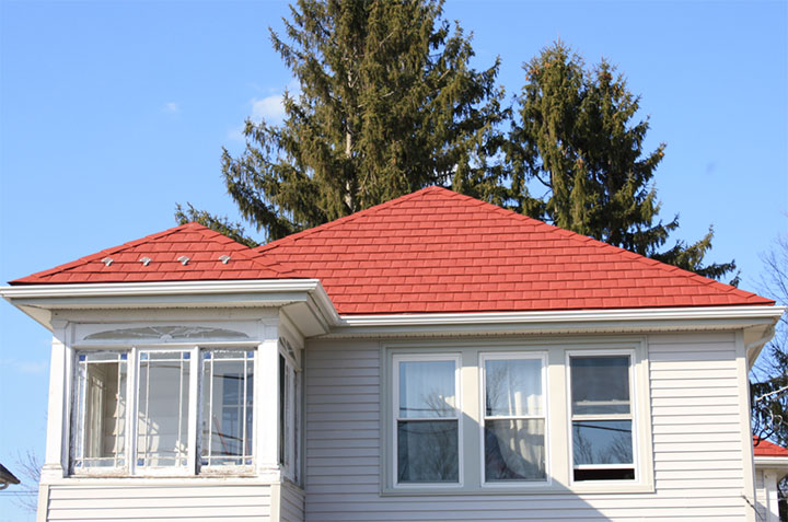 Steel Shingles Sequoia Red