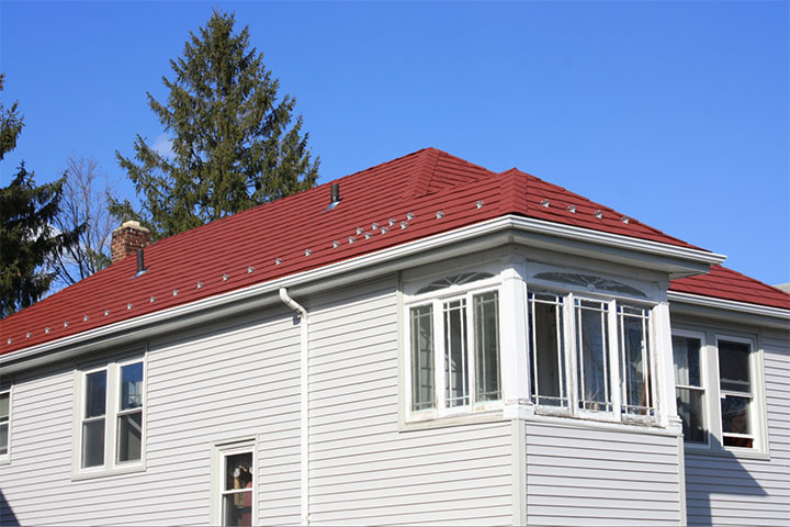 Red Metal Shingles