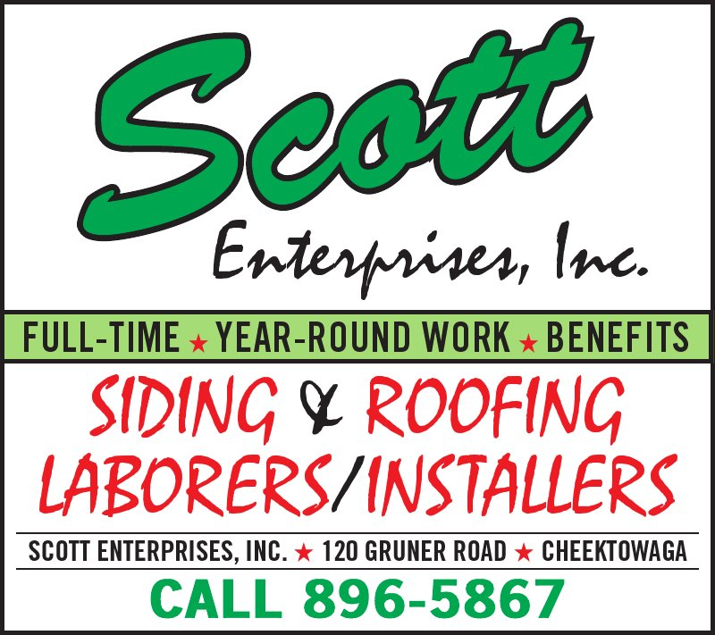 Scott Enterprises Inc Roofing Contractors In Cheektowaga Ny